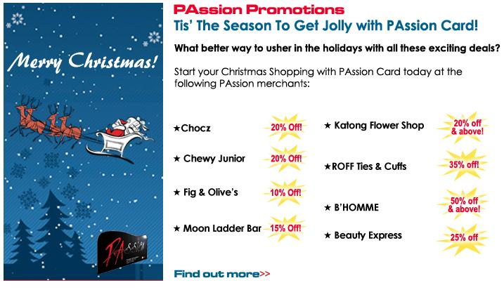 Passion Card December Promotions